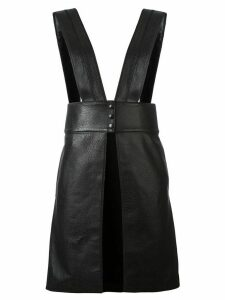 Victoria/Tomas textured apron-style top - Black