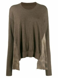 Uma Wang panelled sweater - Brown