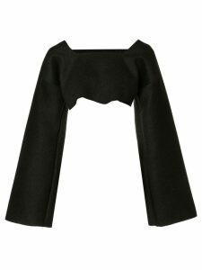 Sabine Luise cropped cashmere blouse - Black