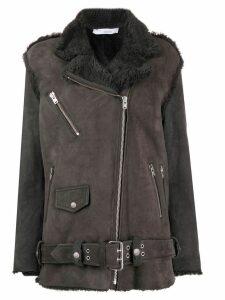 IRO shearling zip detail coat - Grey
