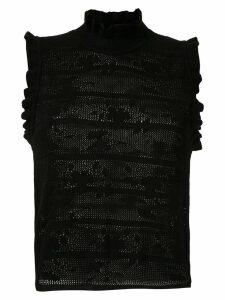 Andrea Bogosian ruffled knit blouse - Black