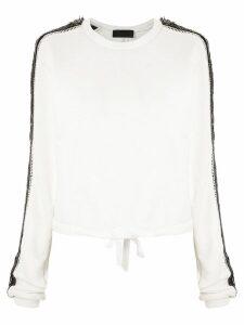 Andrea Bogosian sequinned Peyton sweatshirt - White