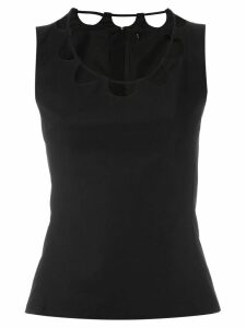 Reinaldo Lourenço cut out details blouse - Black