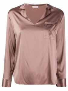 Peserico metallic effect blouse - PINK