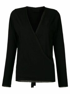 Andrea Bogosian silk wrap blouse - Black
