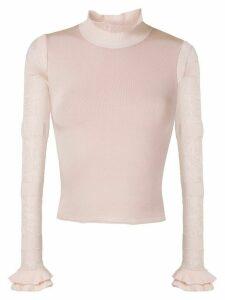 Andrea Bogosian Penelope knit blouse - PINK