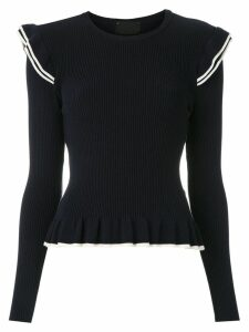 Andrea Bogosian long sleeved knit blouse - Blue