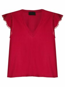Andrea Bogosian lace trimming Pleasure T-shirt - Red