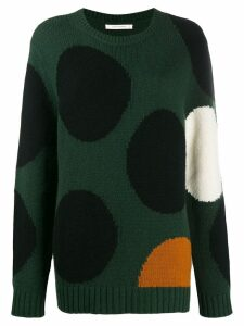 Chinti and Parker dot intarsia jumper - Green