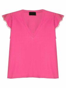Andrea Bogosian lace appliqué blouse - PINK