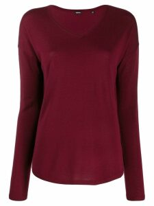 Aspesi v-neck knitted jumper - Red