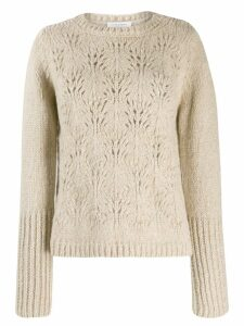 Snobby Sheep cut out detail jumper - NEUTRALS