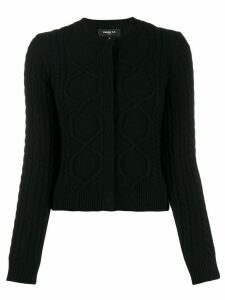 Paule Ka cable-knit cardigan - Black