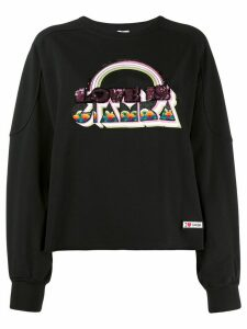 Giamba sequin-embellished sweatshirt - Black