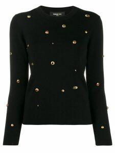 Paule Ka embellished knit sweater - Black