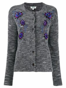 Kenzo floral embroidered cardigan - Grey