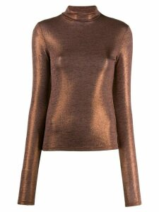 Andamane turtleneck long-sleeved sweatshirt - Brown