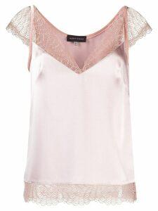 Talbot Runhof lace-detail blouse - PINK