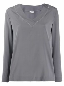 Peserico V-neck blouse - Grey