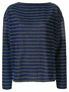 Rachel Comey striped lurex longsleeved T-shirt - Blue
