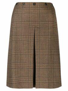 Aspesi front slit skirt - Brown