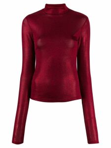 Andamane turtleneck long-sleeved sweatshirt - Red