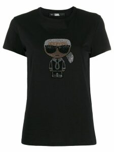 Karl Lagerfeld iconic embellished T-shirt - Black