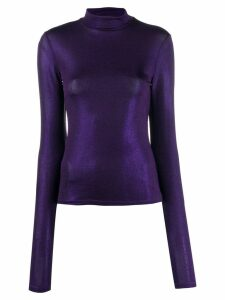 Andamane turtleneck long-sleeved sweatshirt - PURPLE