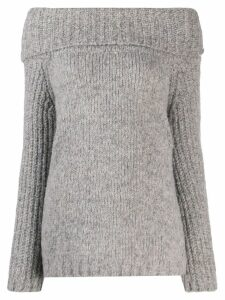 Snobby Sheep funnel neck jumper - Grey