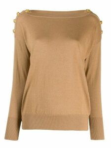Snobby Sheep dropped shoulder sweater - Brown