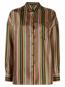 Aspesi vertical striped shirt - Green