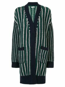 Coohem ivy stripe cardigan coat - Blue