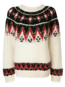 Coohem mohair nordic jumper - White
