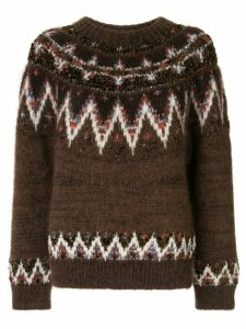 Coohem mohair nordic jumper - Brown