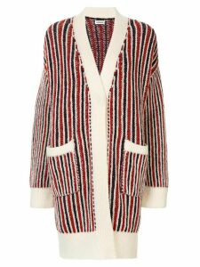 Coohem ivy stripe cardigan coat - Multicolour