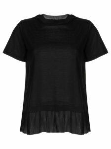 Emporio Armani layered pleated t-shirt - Black