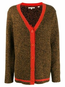 Chinti and Parker contrast trimmed cardigan - Brown