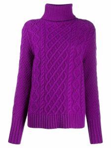 Chinti & Parker novelty knit jumper - PURPLE