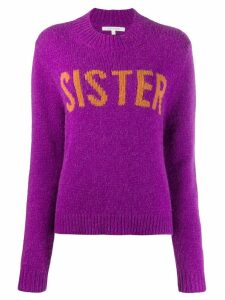 Chinti & Parker contrast round-neck jumper - PURPLE