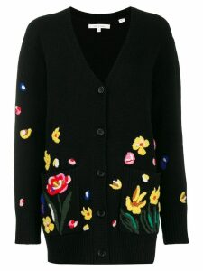 Chinti & Parker embroidered floral cardigan - Black