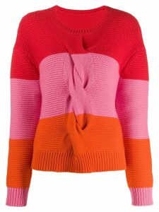 Chinti and Parker colour-block knitted jumper - Red