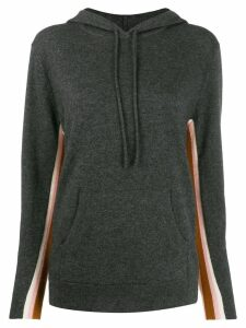 Chinti & Parker contrast cashmere hoodie - Grey