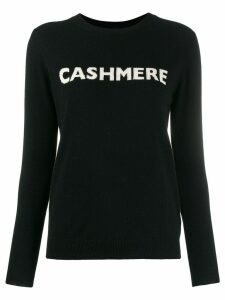 Chinti & Parker slogan knit sweater - Black