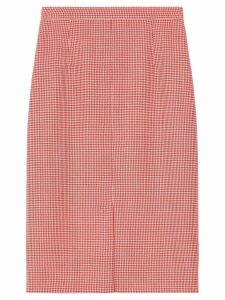 Burberry two-tone houndstooth skirt - Red