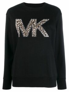 Michael Michael Kors logo studded sweater - Black