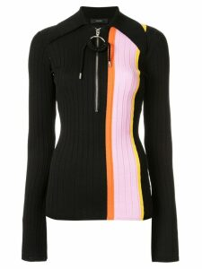 Ellery striped panel polo top - Black