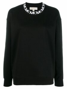Michael Michael Kors logo embroidered sweatshirt - Black