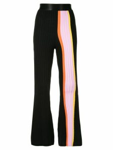 Ellery striped panel flared trousers - Black