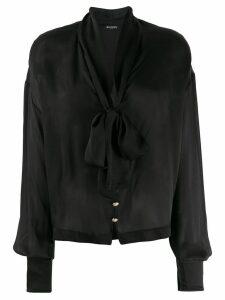 Balmain pussy-bow detail blouse - Black