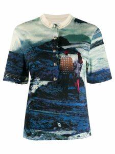 Chloé graphic print shirt - Blue